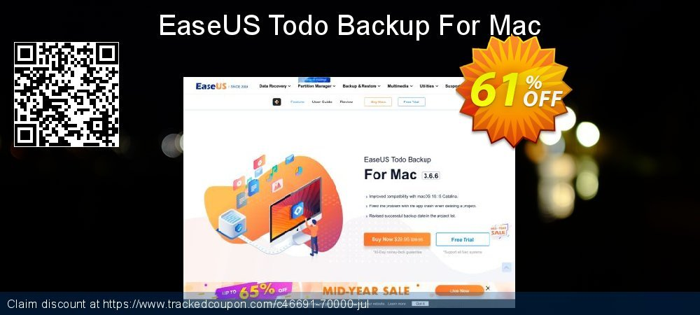 EaseUS Todo Backup For Mac coupon on Int'l. Women's Day discounts