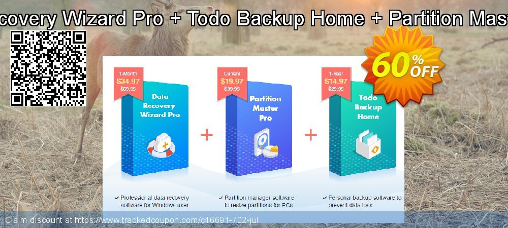 Bundle: EaseUS Data Recovery Wizard Pro + Todo Backup Home + Partition Master Pro Lifetime Upgrades coupon on Super bowl promotions