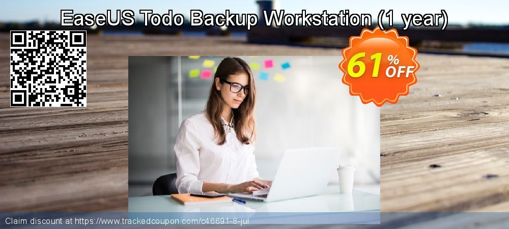 EaseUS Todo Backup Workstation - 1 year  coupon on Happy New Year super sale