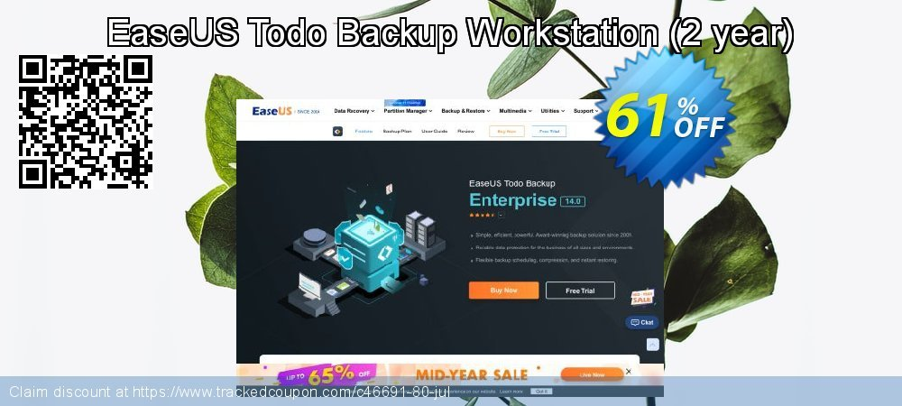 EaseUS Todo Backup Workstation - 2 year  coupon on Valentine Week discounts