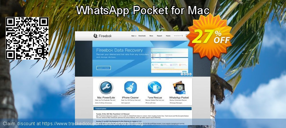 Get 25% OFF WhatsApp Pocket for Mac offering sales