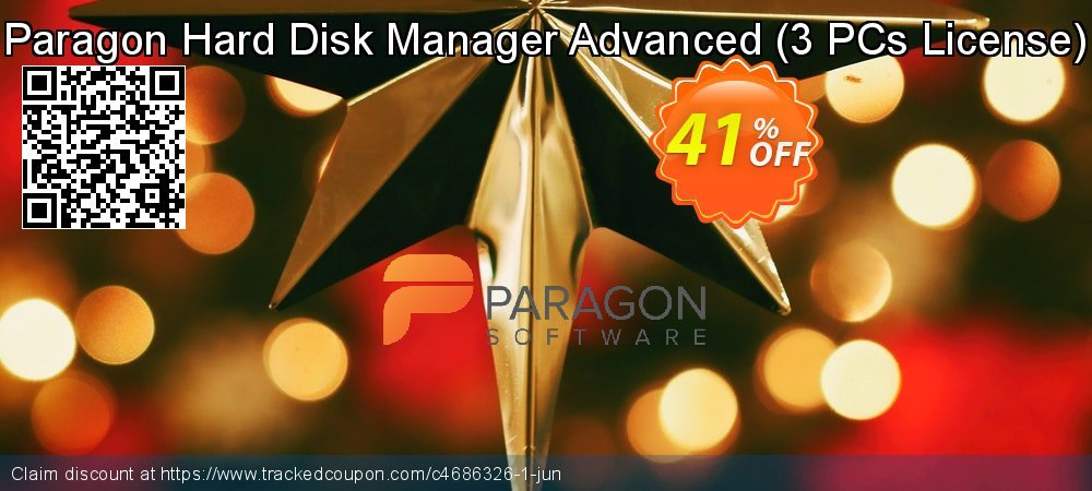 Paragon Hard Disk Manager Advanced - 3 PCs License  coupon on Mothers Day discount