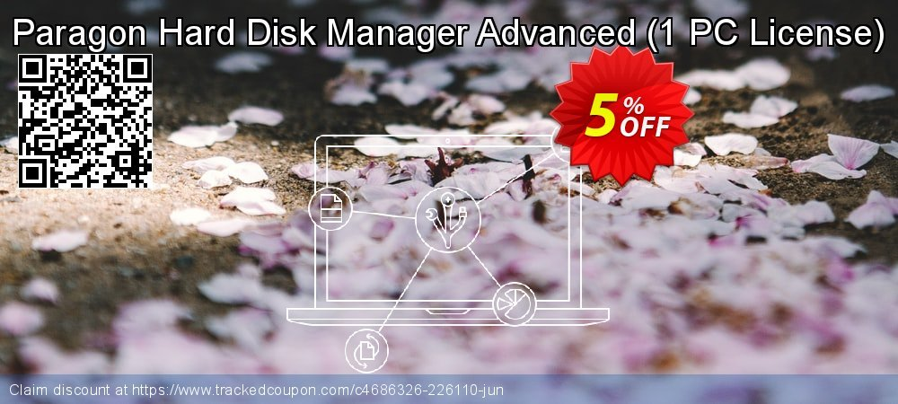 Paragon Hard Disk Manager Advanced - 1 PC License  coupon on Mom Day offering sales