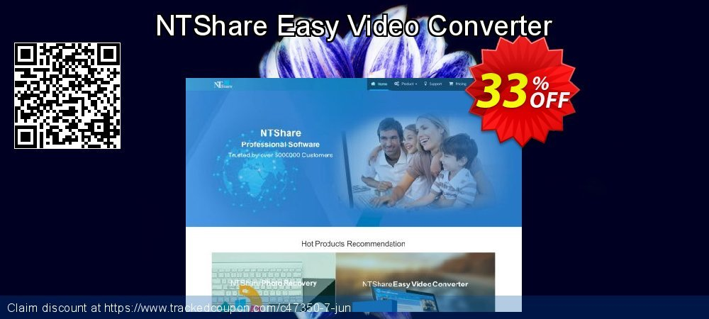 Get 30% OFF NTShare Easy Video Converter offering sales