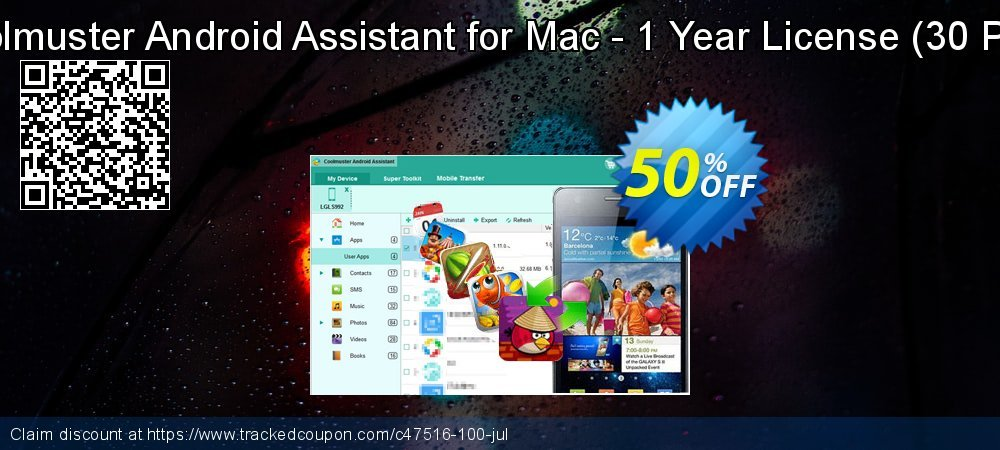 Coolmuster Android Assistant for Mac - 1 Year License - 30 PCs  coupon on New Year offering sales