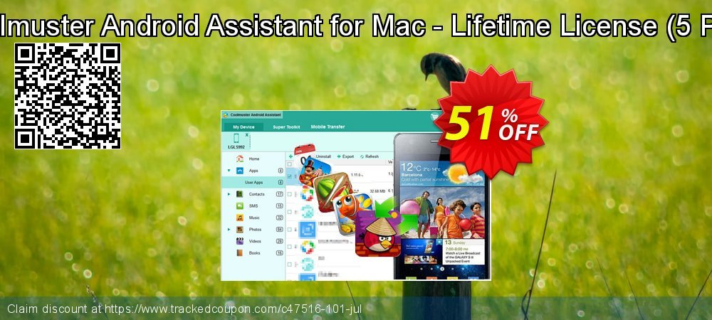 Coolmuster Android Assistant for Mac - Lifetime License - 5 PCs  coupon on New Year's Day super sale