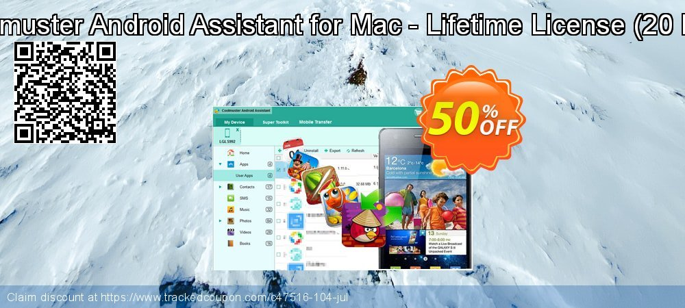 Coolmuster Android Assistant for Mac - Lifetime License - 20 PCs  coupon on April Fool's Day discount