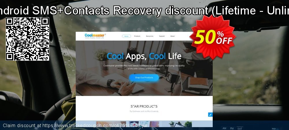 Claim 50% OFF Coolmuster Android SMS+Contacts Recovery discount - Lifetime - Unlimited devices Coupon discount September, 2020