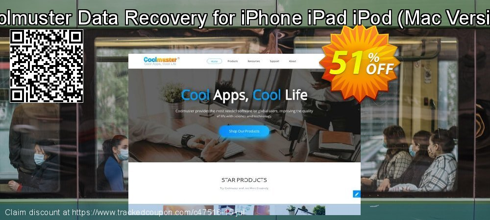 Get 50% OFF Coolmuster Data Recovery for iPhone iPad iPod (Mac Version) offering discount