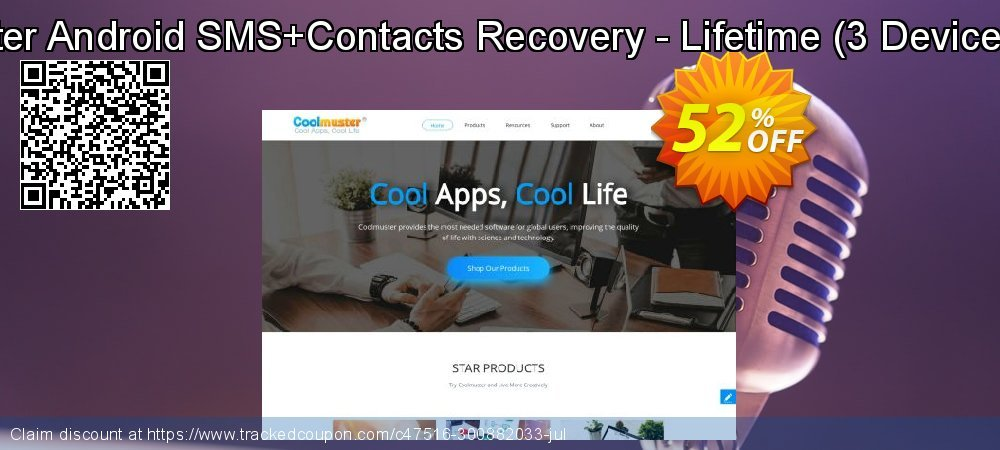 Coolmuster Android SMS+Contacts Recovery - Lifetime - 3 Devices, 3 PCs  coupon on New Year's Day offering discount
