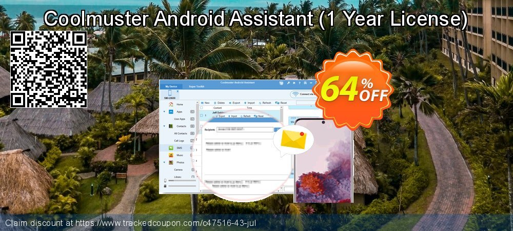 Coolmuster Android Assistant - 1 Year License coupon on Halloween offer