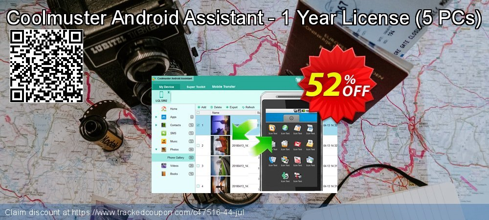 Coolmuster Android Assistant - 1 Year License - 5 PCs  coupon on April Fool's Day super sale