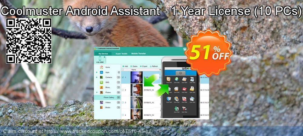 Coolmuster Android Assistant - 1 Year License - 10 PCs  coupon on Halloween offering discount