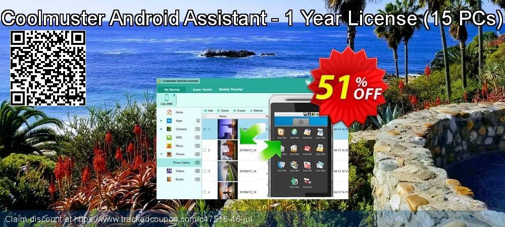 Coolmuster Android Assistant - 1 Year License - 15 PCs  coupon on Easter promotions