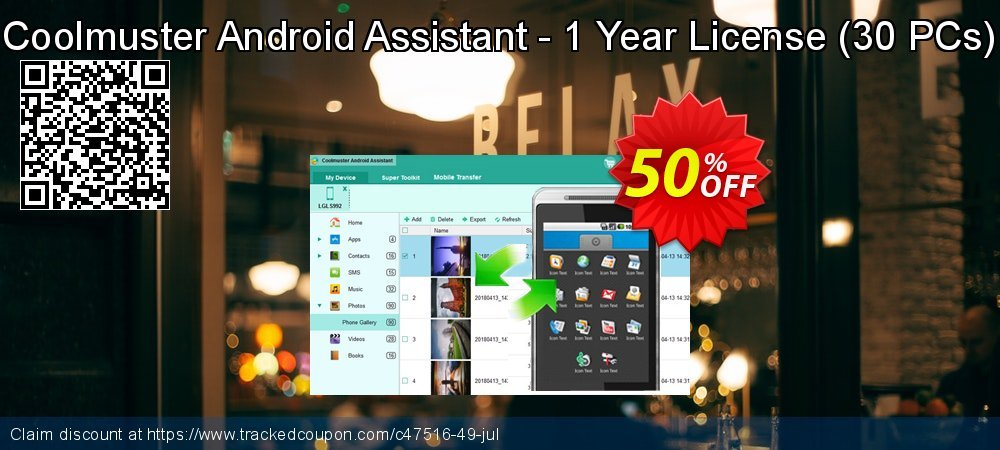 Coolmuster Android Assistant - 1 Year License - 30 PCs  coupon on Halloween promotions