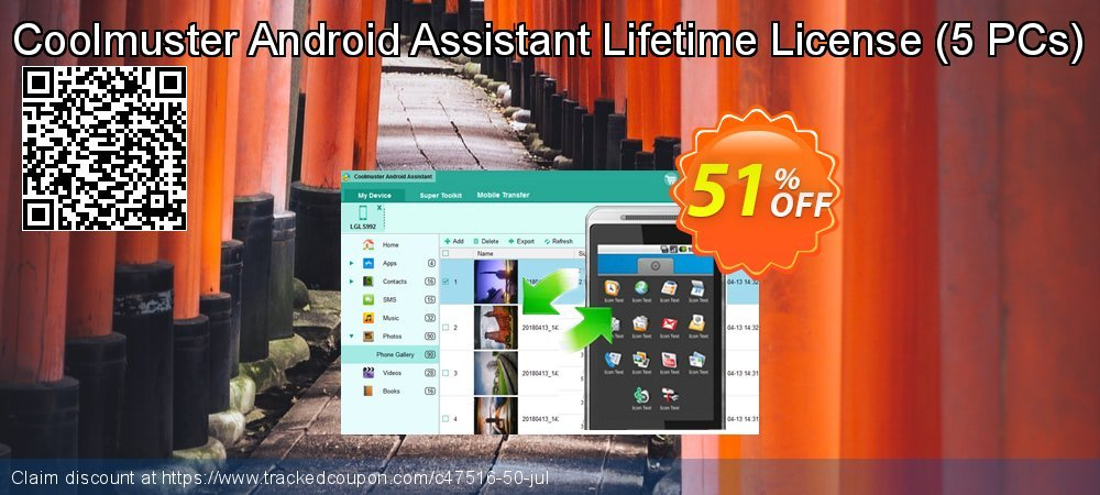 Coolmuster Android Assistant - Lifetime License - 5 PCs  coupon on Happy New Year sales