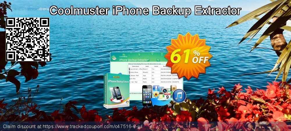 Coolmuster iPhone Backup Extractor coupon on Easter offering discount