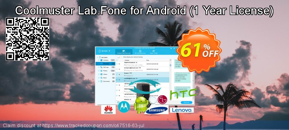 Coolmuster Lab.Fone for Android - 1 Year License  coupon on Summer deals