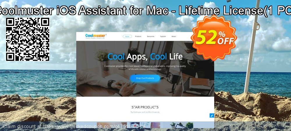 Get 50% OFF Coolmuster iOS Assistant for Mac - Lifetime License(1 PC) offering sales