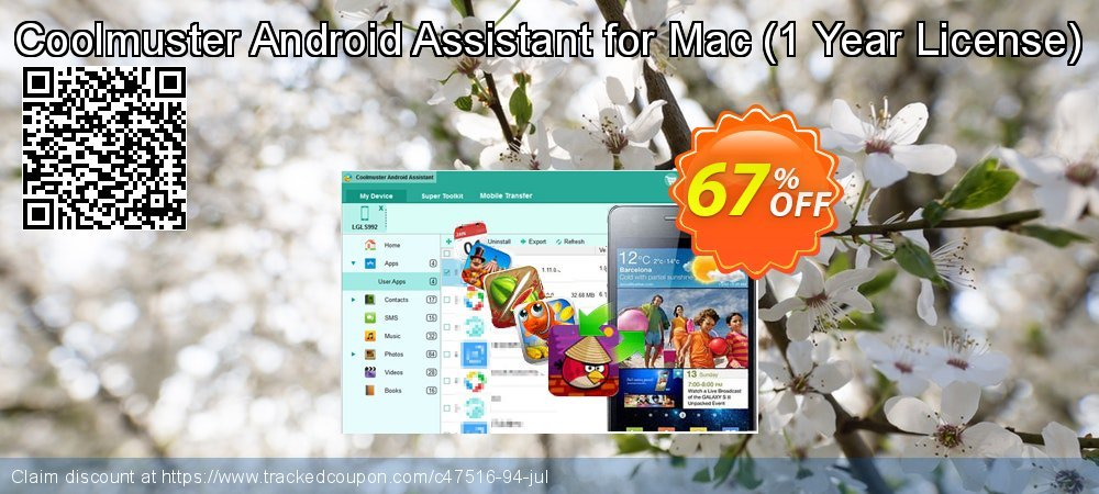 Coolmuster Android Assistant for Mac - 1 Year License coupon on Easter offer