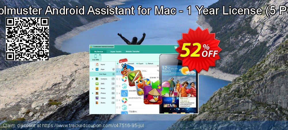 Coolmuster Android Assistant for Mac - 1 Year License - 5 PCs  coupon on Lunar New Year sales