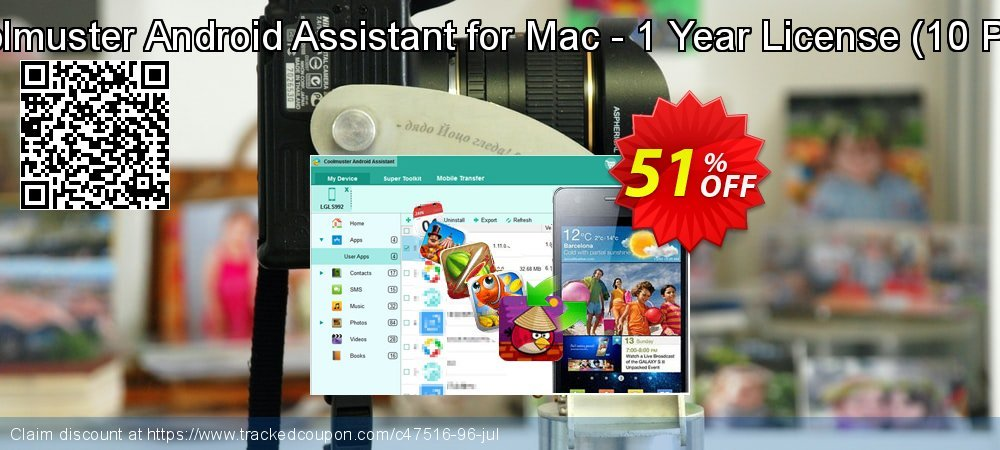 Coolmuster Android Assistant for Mac - 1 Year License - 10 PCs  coupon on April Fool's Day offering discount