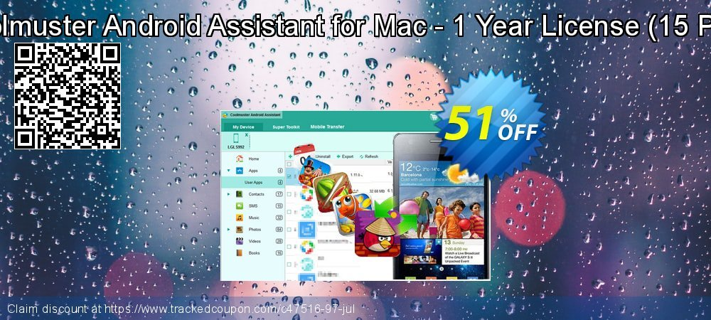 Coolmuster Android Assistant for Mac - 1 Year License - 15 PCs  coupon on Easter Sunday offering sales