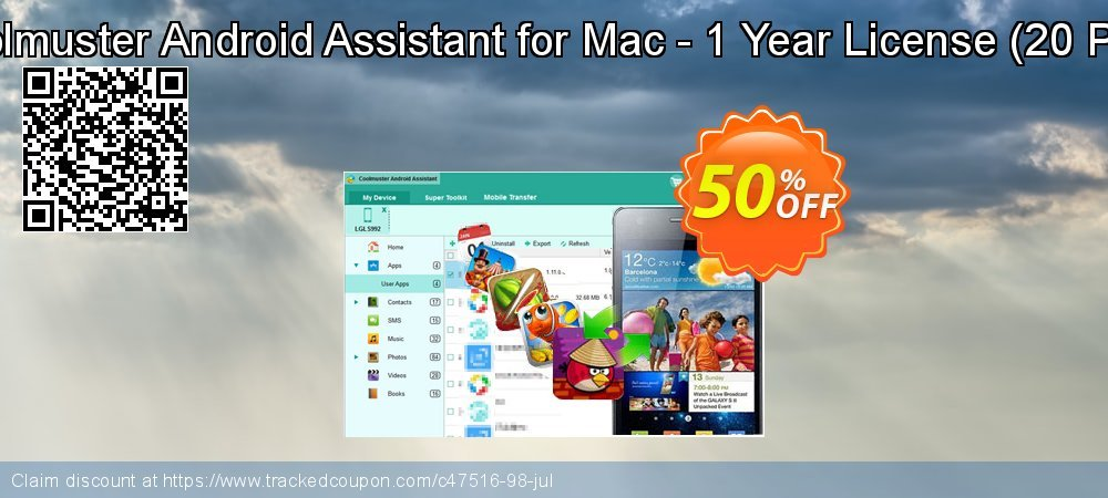 Coolmuster Android Assistant for Mac - 1 Year License - 20 PCs  coupon on Easter super sale