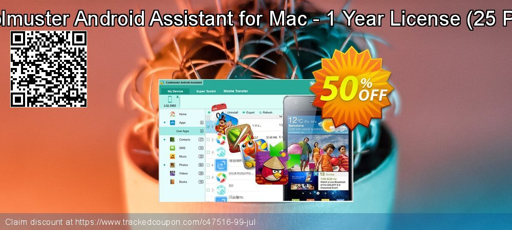Coolmuster Android Assistant for Mac - 1 Year License - 25 PCs  coupon on Spring discounts