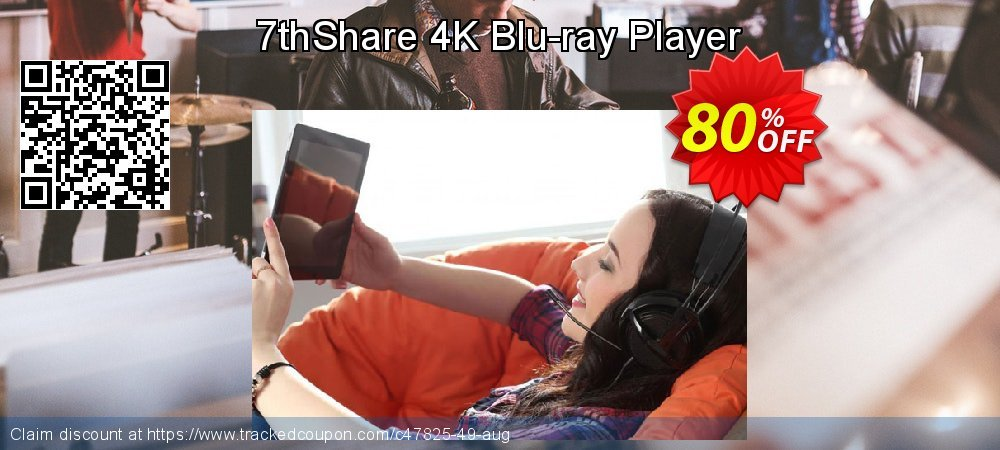 7thShare 4K Blu-ray Player coupon on Easter Sunday sales