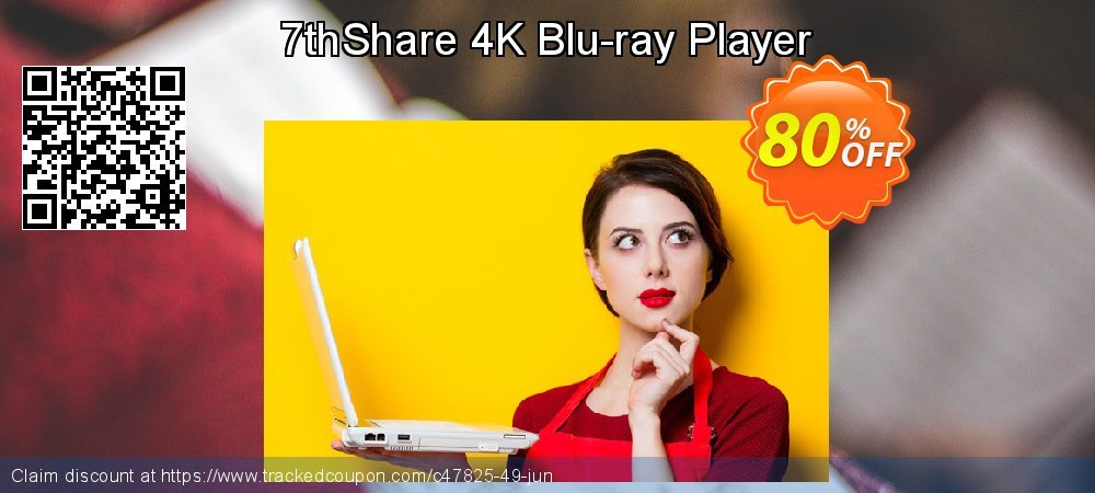 7thShare 4K Blu-ray Player coupon on New Year's Day offer