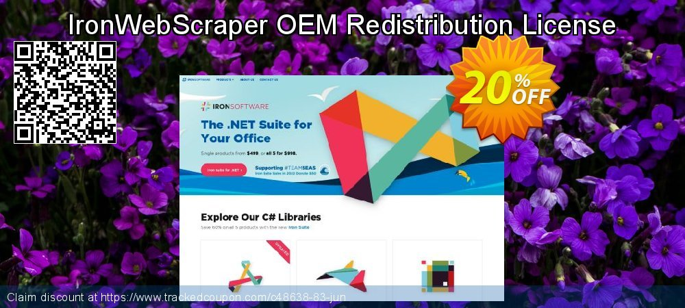 Get 20% OFF IronWebScraper OEM Redistribution License deals