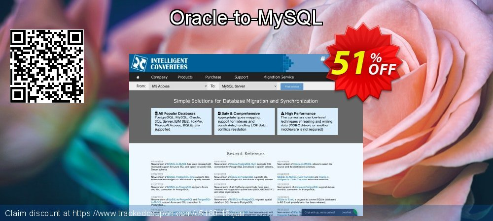Get 50% OFF Oracle-to-MySQL offering discount