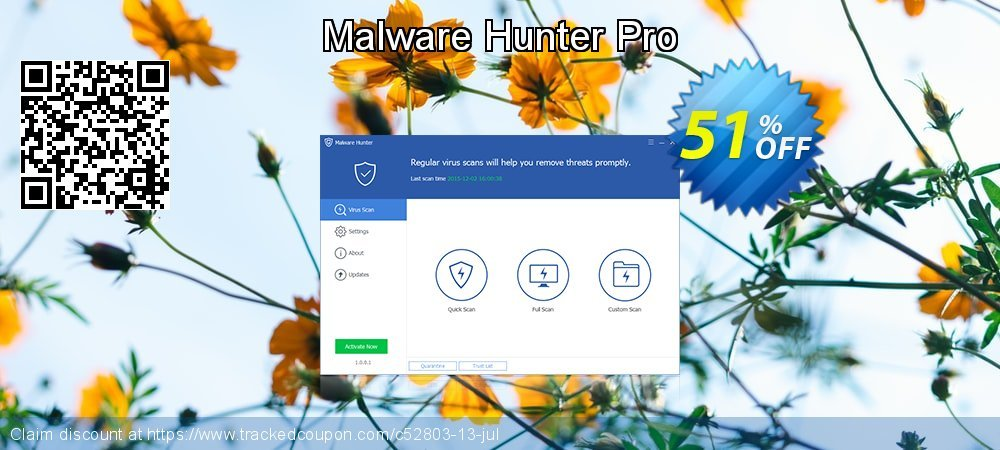 Malware Hunter Pro coupon on Valentines Day offering discount