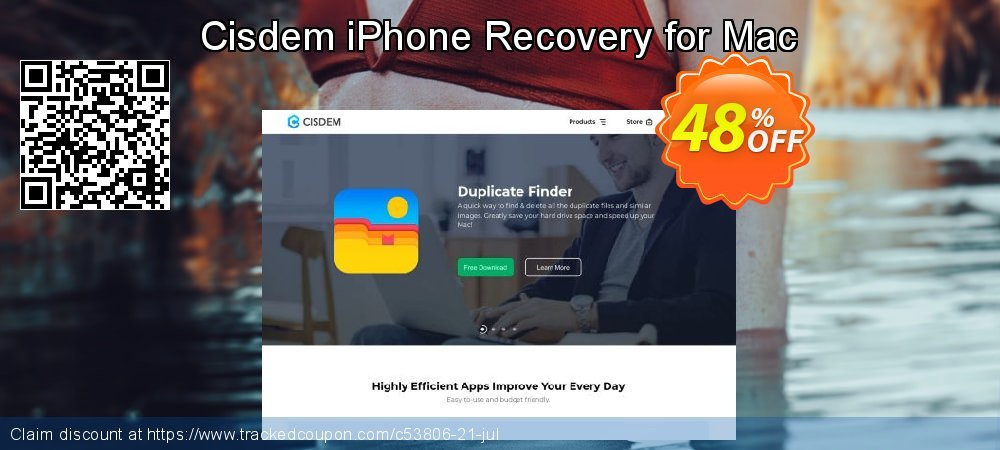 Claim 41% OFF Cisdem iPhone Recovery for Mac Coupon discount March, 2020