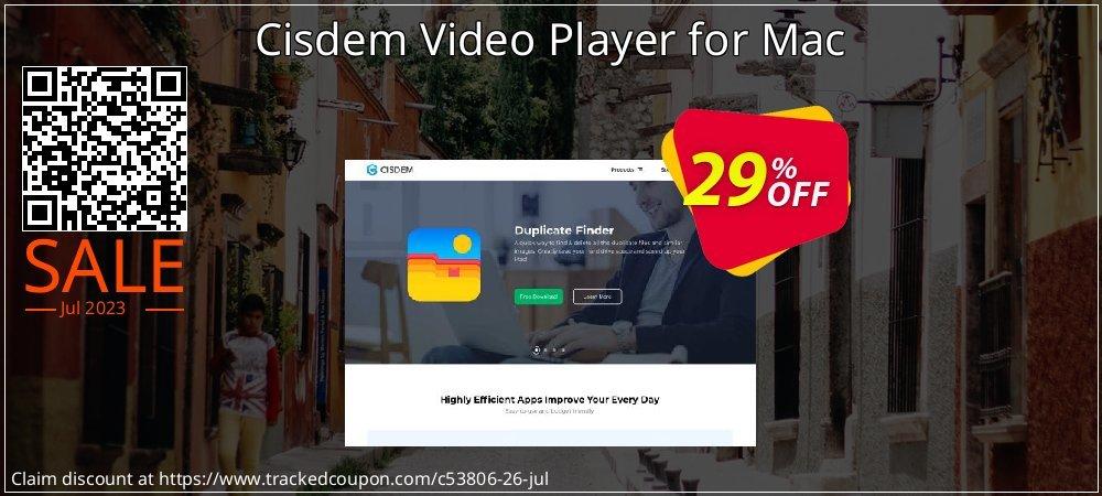 Get 25% OFF Cisdem Video Player deals