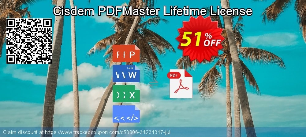 Cisdem PDFMaster Lifetime License coupon on Easter Sunday sales