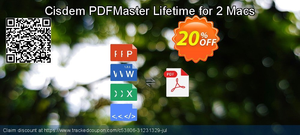 Cisdem PDFMaster Lifetime for 2 Macs coupon on Easter Sunday discount