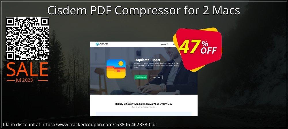Get 46% OFF Cisdem PDF Compressor for 2 Macs offering sales