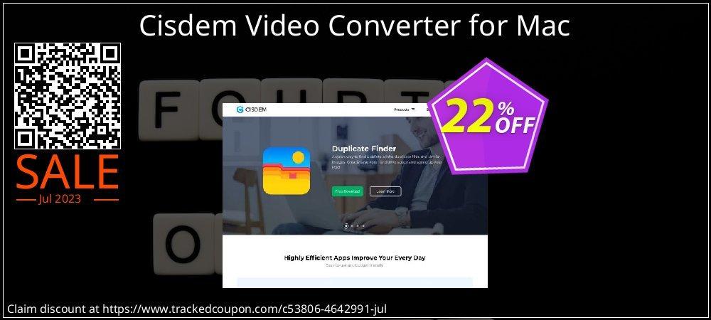 Cisdem Video Converter for Mac coupon on Autumn deals
