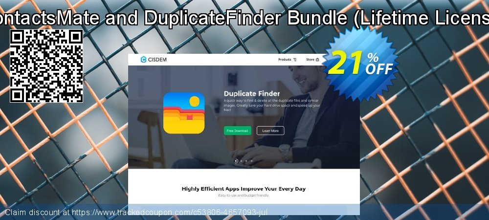 Get 10% OFF ContactsMate and DuplicateFinder Bundle promotions