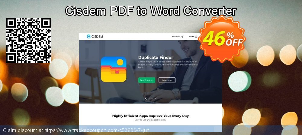 Cisdem PDF to Word Converter coupon on Halloween deals