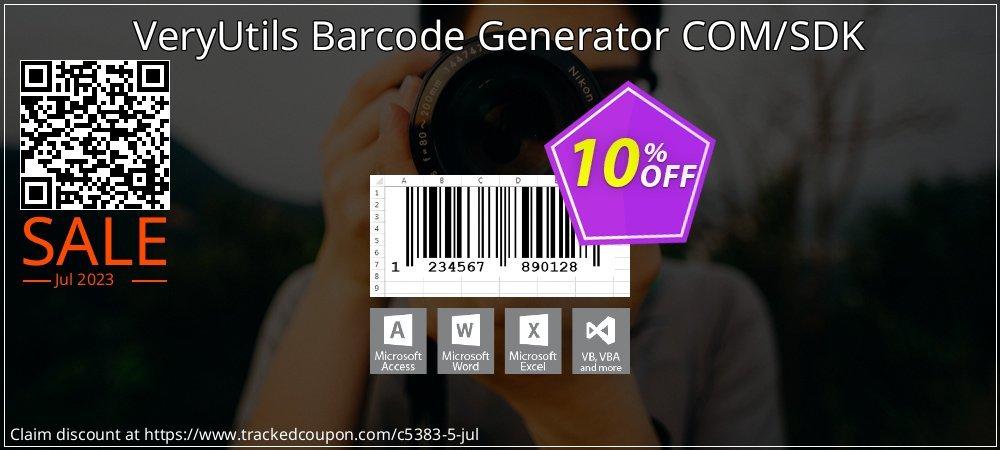 Get 10% OFF VeryUtils Barcode Generator COM/SDK offering sales