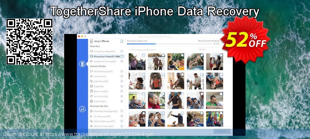 Get 89% OFF TogetherShare iPhone Data Recovery for Windows offering discount