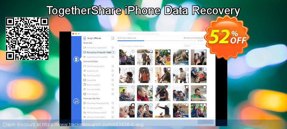 Get 89% OFF TogetherShare iPhone Data Recovery for Windows offering sales