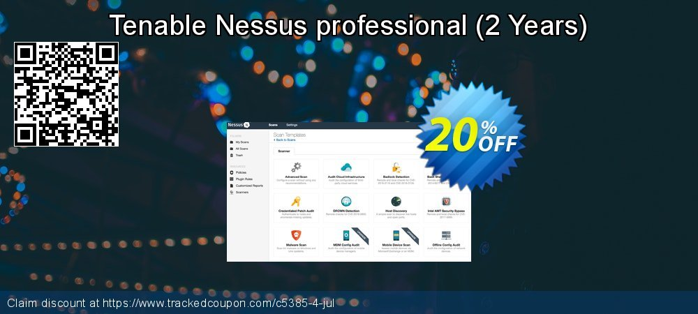 Tenable Nessus professional - 2 Years  coupon on World Bollywood Day offering sales