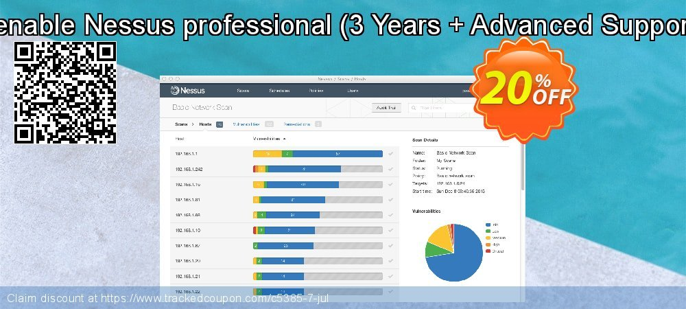 Tenable Nessus professional - 3 Years + Advanced Support  coupon on Talk Like a Pirate Day promotions