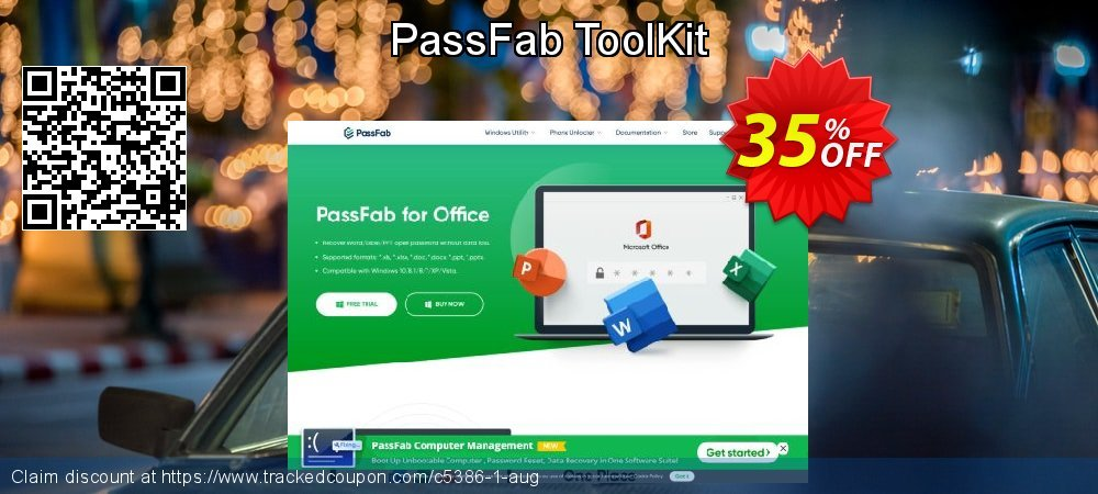 Claim 35% OFF PassFab ToolKit Coupon discount April, 2020