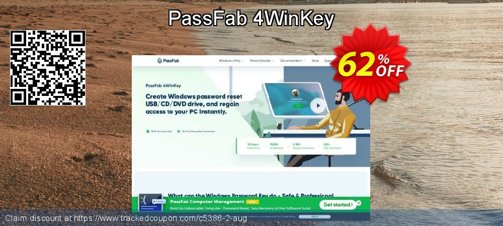 Claim 62% OFF PassFab 4WinKey Coupon discount July, 2020