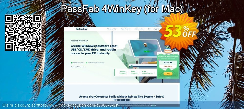 Claim 53% OFF PassFab 4WinKey - for Mac Coupon discount April, 2020